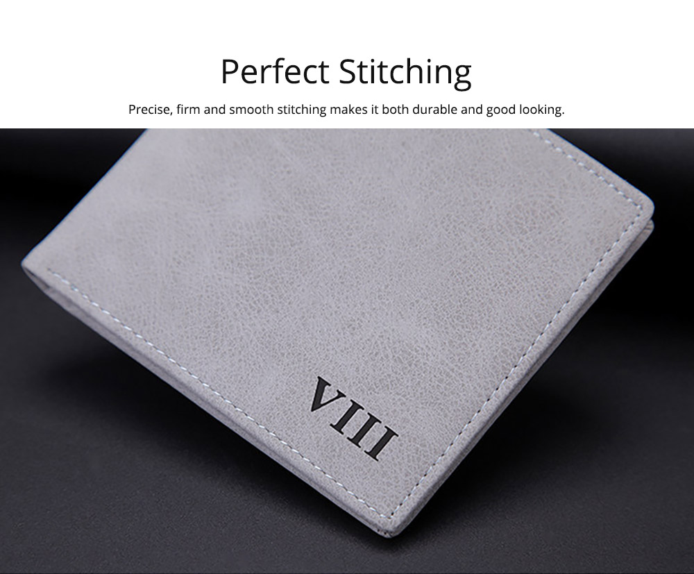 Men's Wallet - Matt Texture Soft Vintage, Lightweight Slim Stylish Wallets for Men with Multiple Compartments Card Slots 11