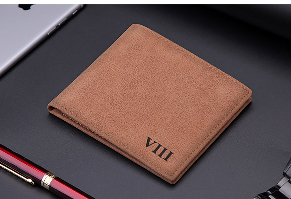 Men's Wallet - Matt Texture Soft Vintage, Lightweight Slim Stylish Wallets for Men with Multiple Compartments Card Slots 14