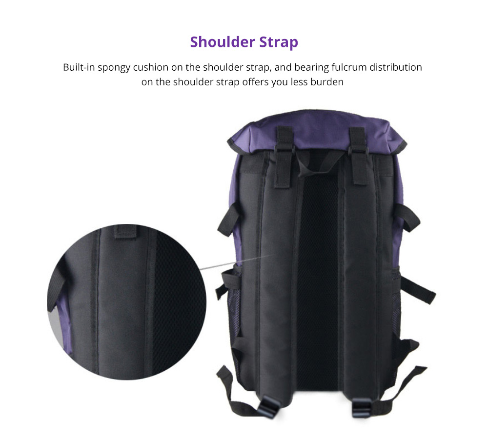 Hiking Backpack - Universal Large Capacity Backpack with Multiple Compartments for Mountaineering Hiking Camping Outdoors Travel 9