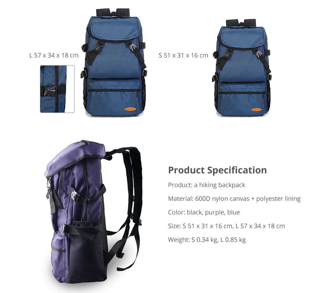 Hiking Backpack - Universal Large Capacity Backpack with Multiple Compartments for Mountaineering Hiking Camping Outdoors Travel 14