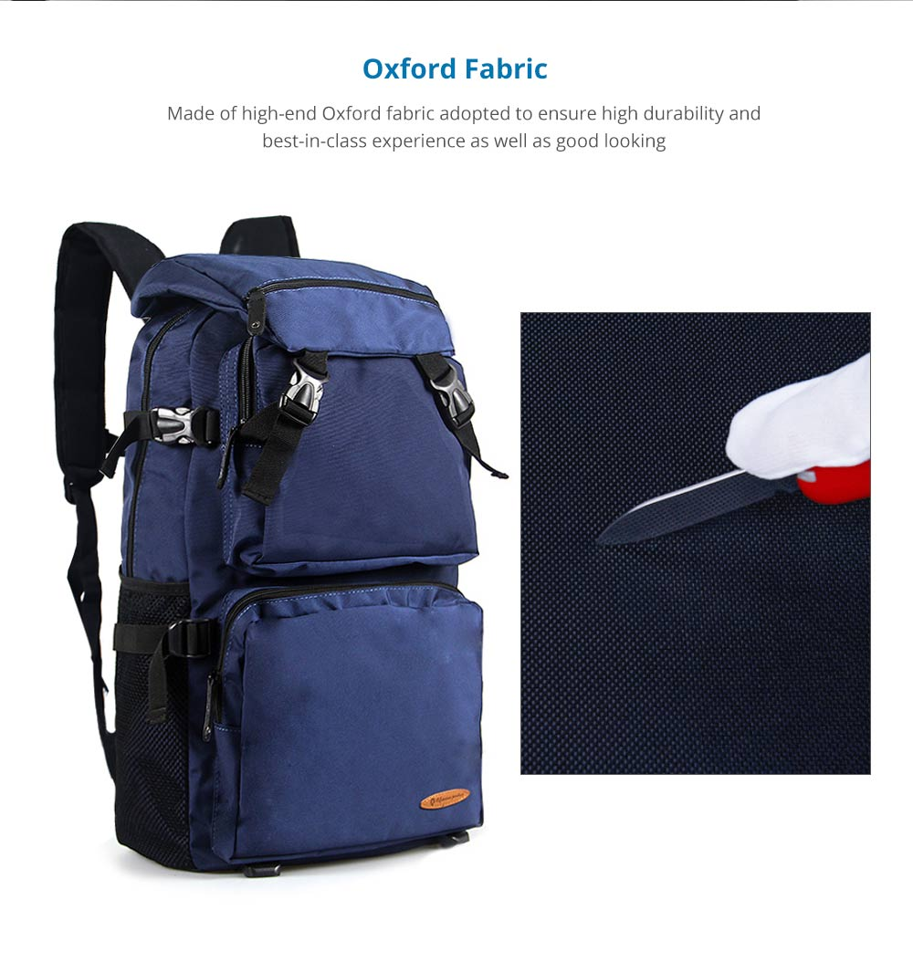 Large Capacity Backpack with Multiple Compartments for Hiking Camping Picnic Outdoors Travel, Water Resistance 600D Nylon Canvas Backpack 8
