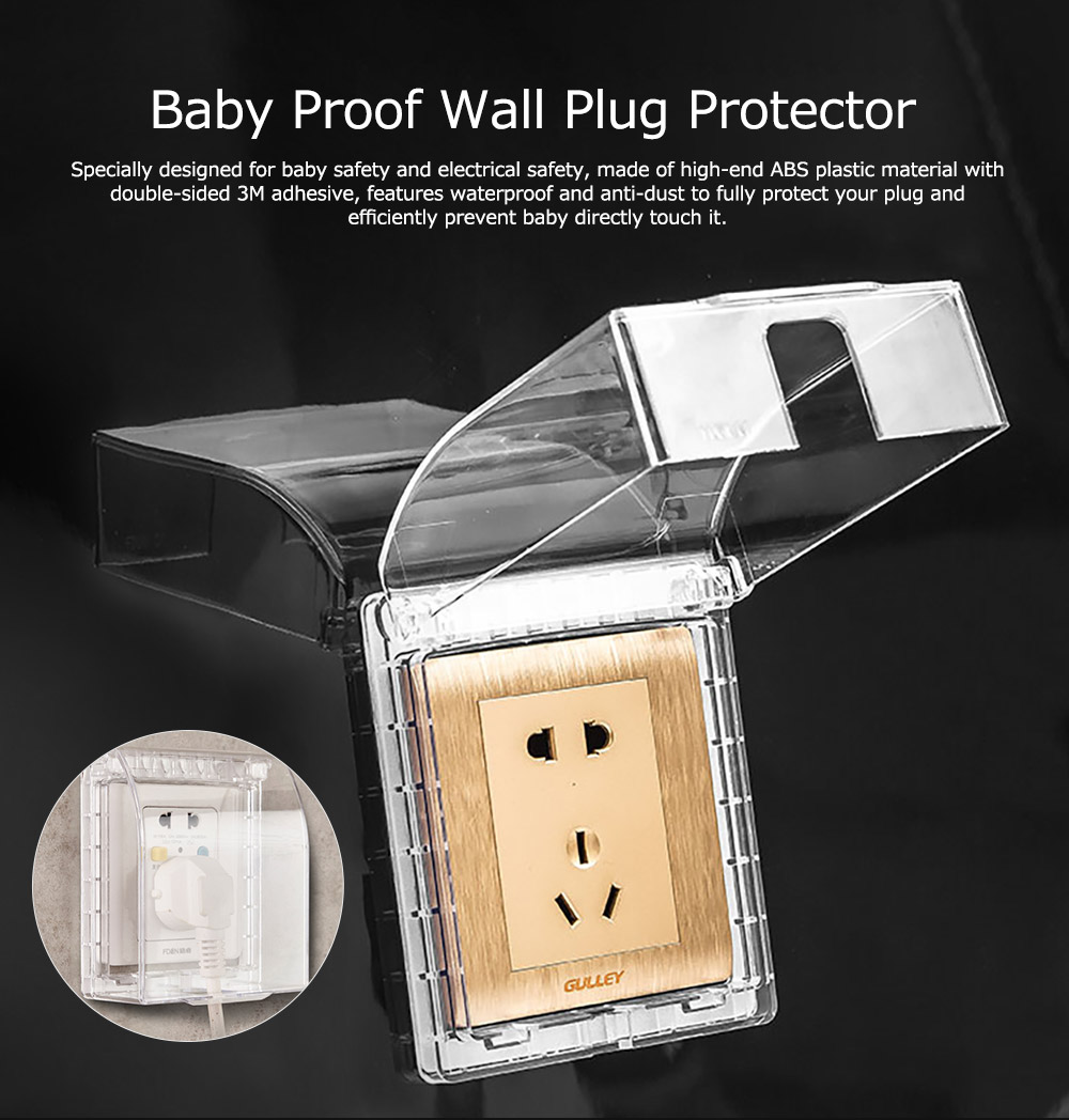 Electric Outlet Case Universal Baby Safety Light Switch Protector, Children Proofing Waterproof Anti-dust Wall Plug Protective Cover 6
