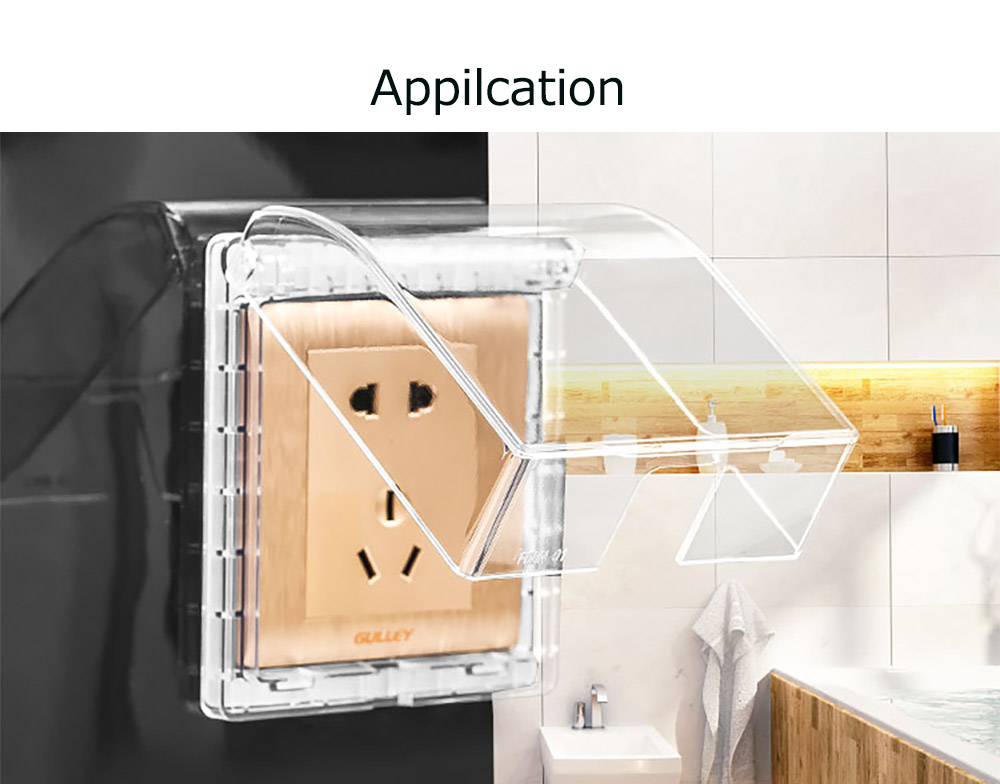 Electric Outlet Case Universal Baby Safety Light Switch Protector, Children Proofing Waterproof Anti-dust Wall Plug Protective Cover 13
