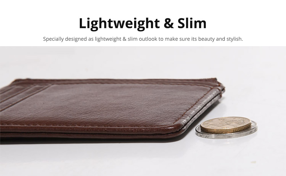 Fashionable Men's Wallet, Lightweight Thin Genuine Leather Soft Vintage Wallets for Men with Multiple Compartments Card Slots 9