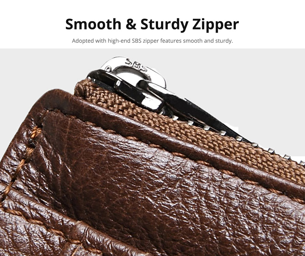 Fashionable Men's Wallet, Lightweight Thin Genuine Leather Soft Vintage Wallets for Men with Multiple Compartments Card Slots 11