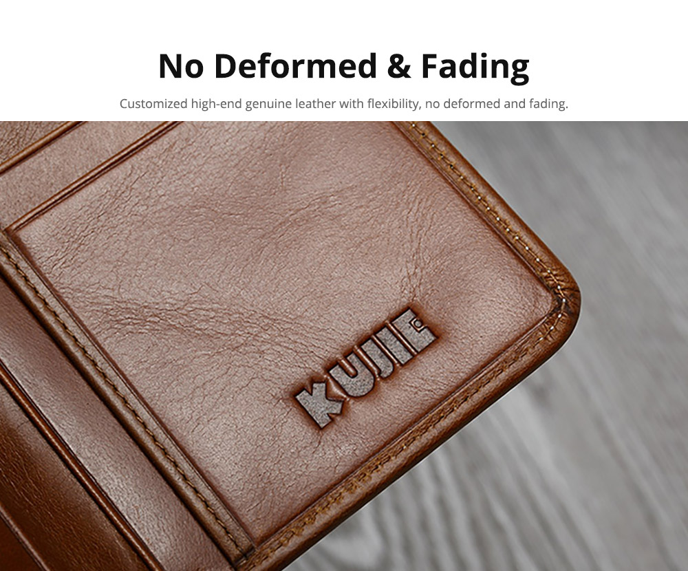 Handmade Men's Wallet Durable & Lightweight, Thin Oil Wax Genuine Leather Men's Folio Purse with Photo Frame for Driver License, Receipts, ID Card, Coins, and Cash 10