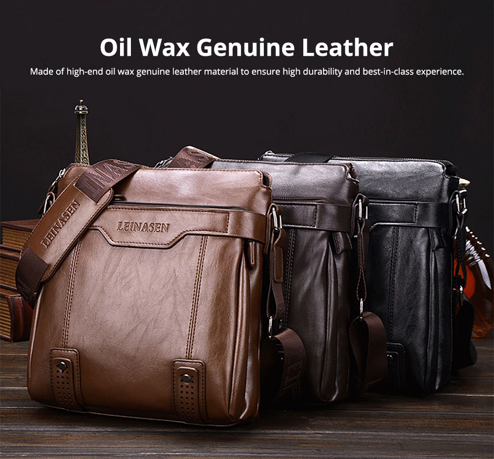 Business Man Leather Shoulder Bag Luxurious Briefcase, Multipurpose Large Capacity Men's Handbag with Clutch Widen Strap Multiple Compartments 7