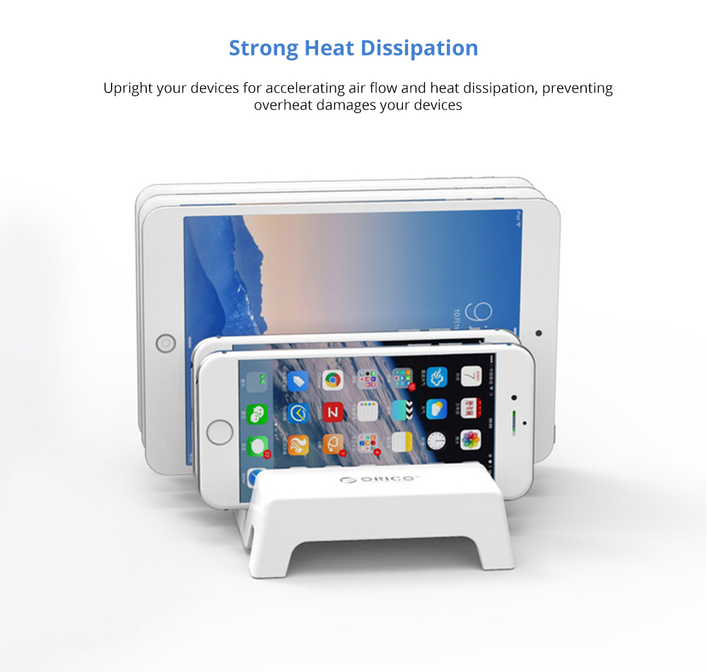Charging Organizer Dock Stand 5-Slot Compatible with iPhone, iPad, Kindle, Fire Tablet, Samsung Galaxy, Google Nexus, Pixel, Adjustable Universal Multi-Device  All Electronic Devices Separator Holder 8