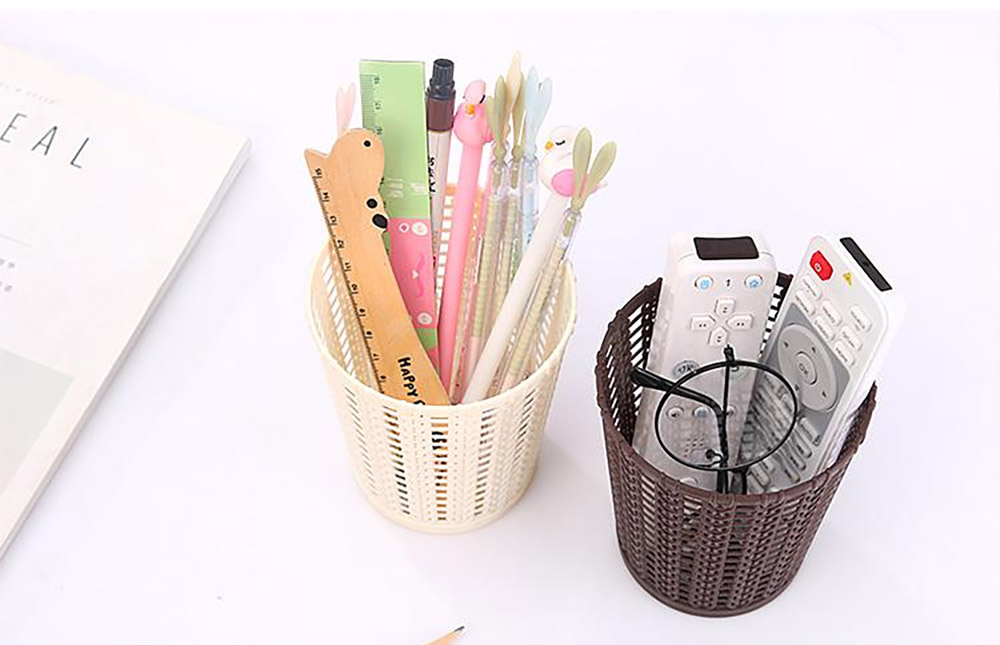 Desktop Pencil Holder Organizer for Pens Clips Scissors Multipurpose Cosmetics Organizer Office Supplies Home School Office Essential  8