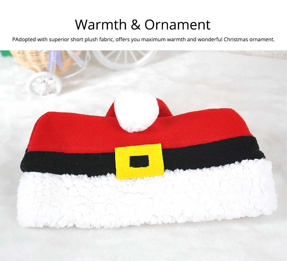 Christmas Hat Adult, Lovely Short Plush Santa Hat with Polar Fleece Fabric 9