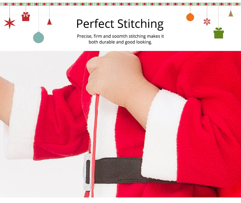 Children Christmas Costume Deluxe plush Christmas Suit for Christmas Party Cosplay Party Family Gathering Stage Performance Christmas Costume Set 9