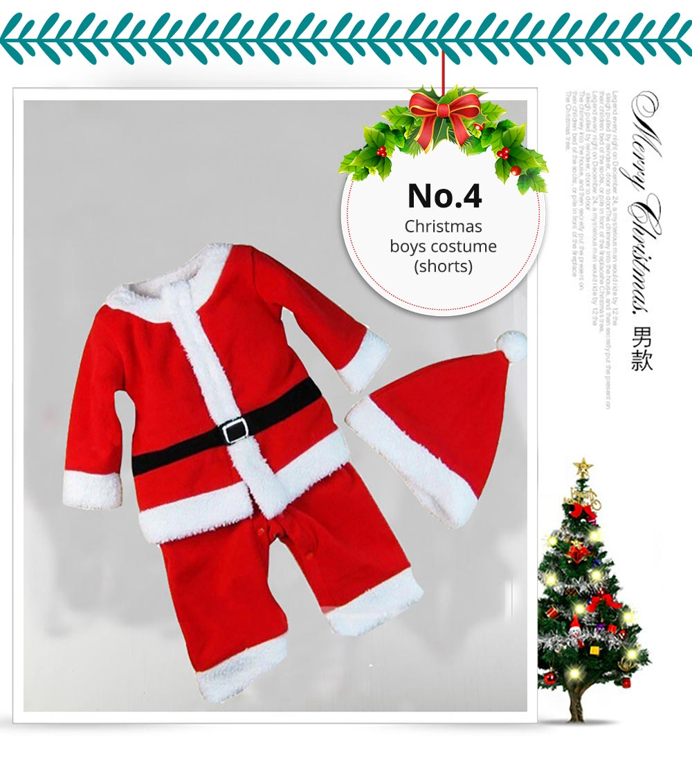 Children Christmas Costume Deluxe plush Christmas Suit for Christmas Party Cosplay Party Family Gathering Stage Performance Christmas Costume Set 15