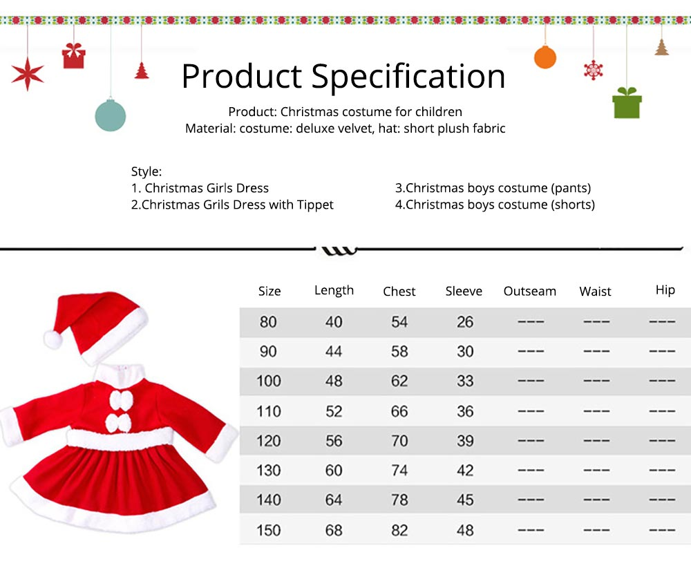 Children Christmas Costume Deluxe plush Christmas Suit for Christmas Party Cosplay Party Family Gathering Stage Performance Christmas Costume Set 18