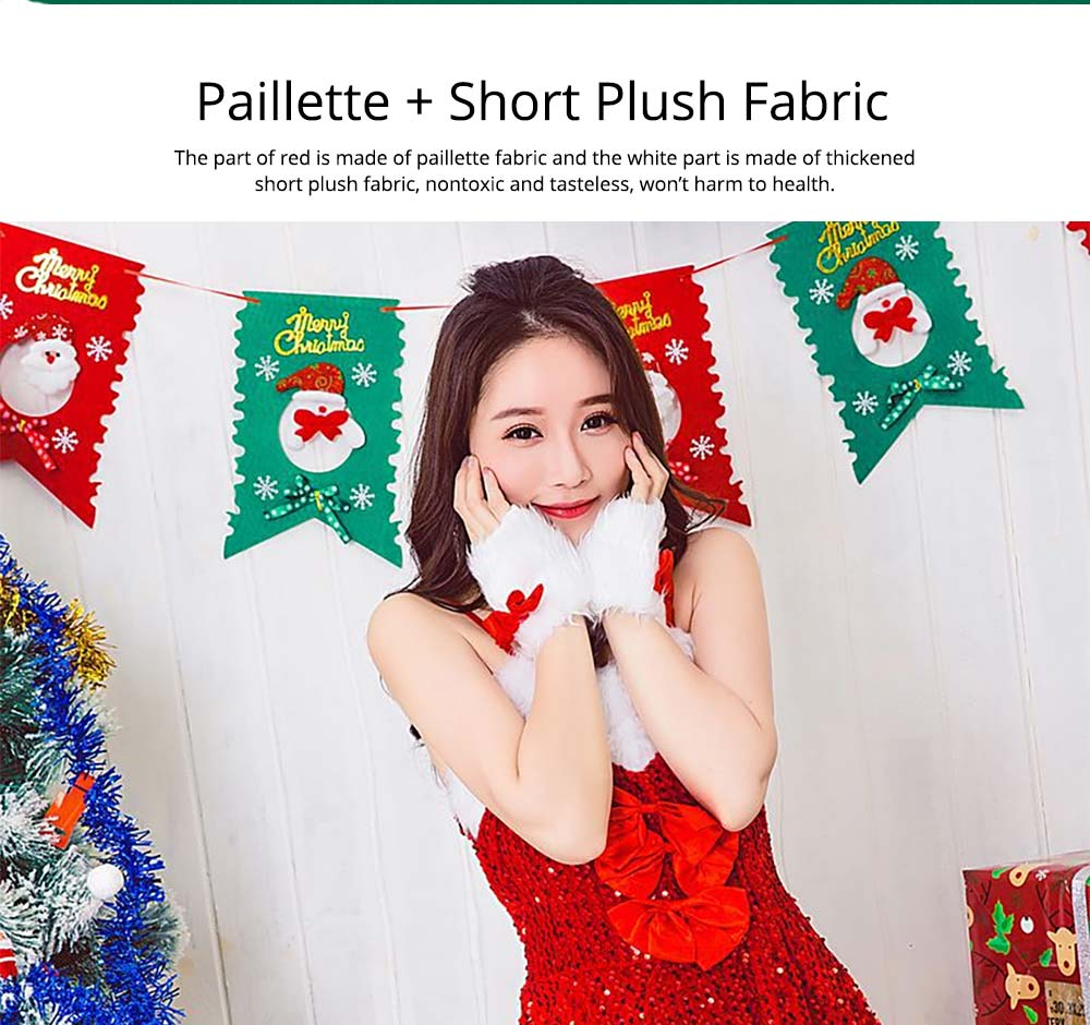 Girls Christmas Skip Dress, Luxurious Paillette Women Christmas Singlet Dress for Christmas Party, Cosplay, Family Gathering, Stage Performance 9