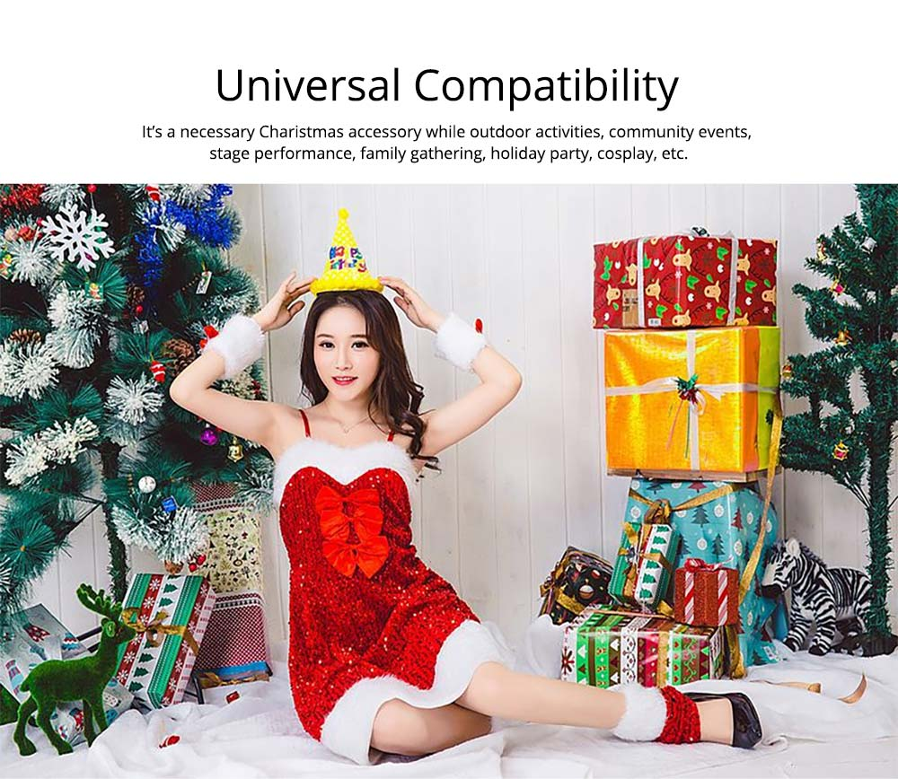 Girls Christmas Skip Dress, Luxurious Paillette Women Christmas Singlet Dress for Christmas Party, Cosplay, Family Gathering, Stage Performance 17