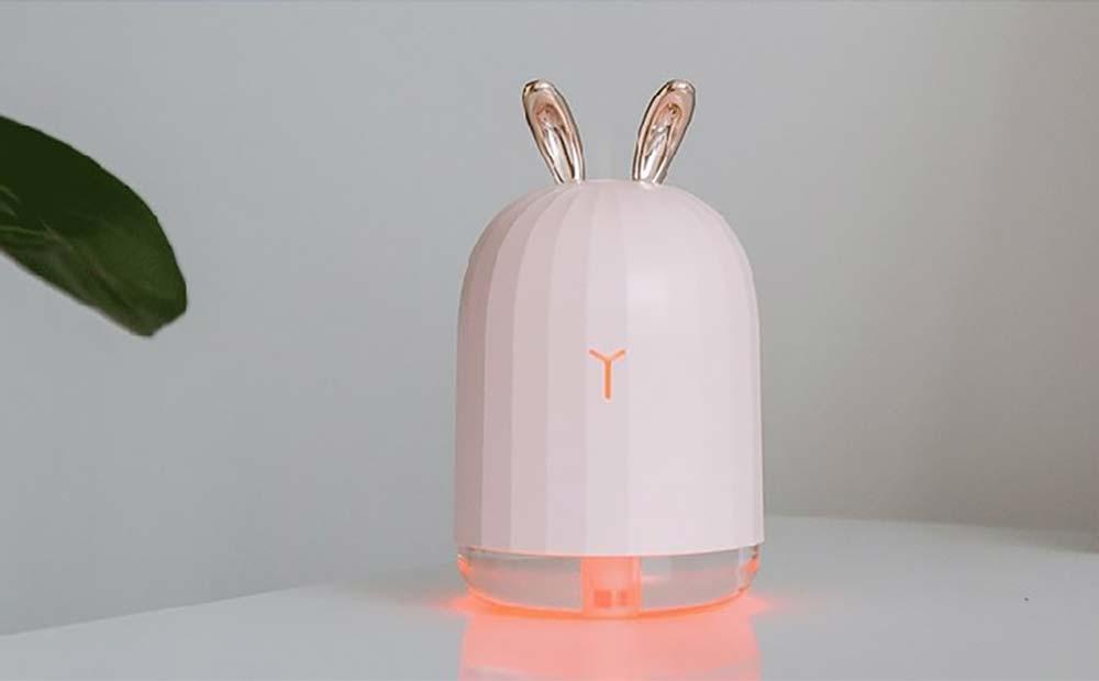 Mini Desk Humidifier, Ultrasonic USB Humidifier Essential Oil Diffuser Aromatherapy Household Rabbit Deer Design 12