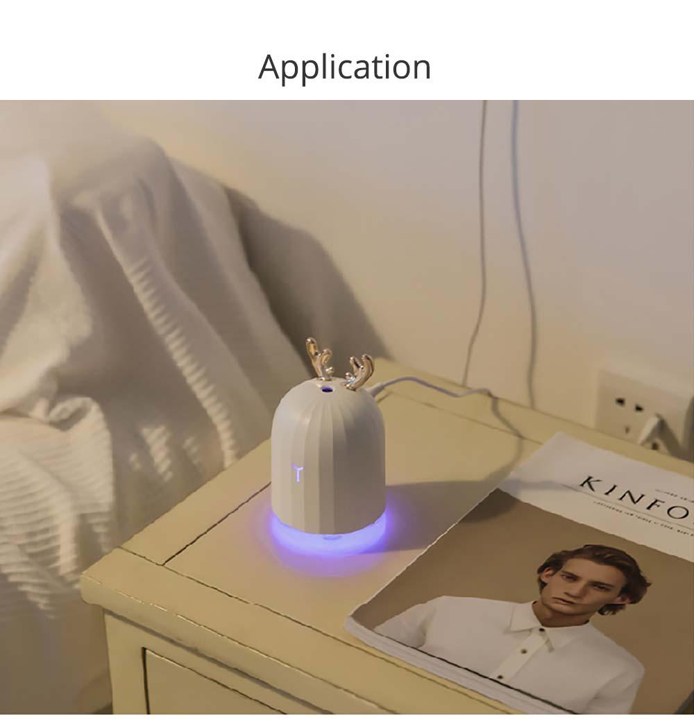 Mini Desk Humidifier, Ultrasonic USB Humidifier Essential Oil Diffuser Aromatherapy Household Rabbit Deer Design 17