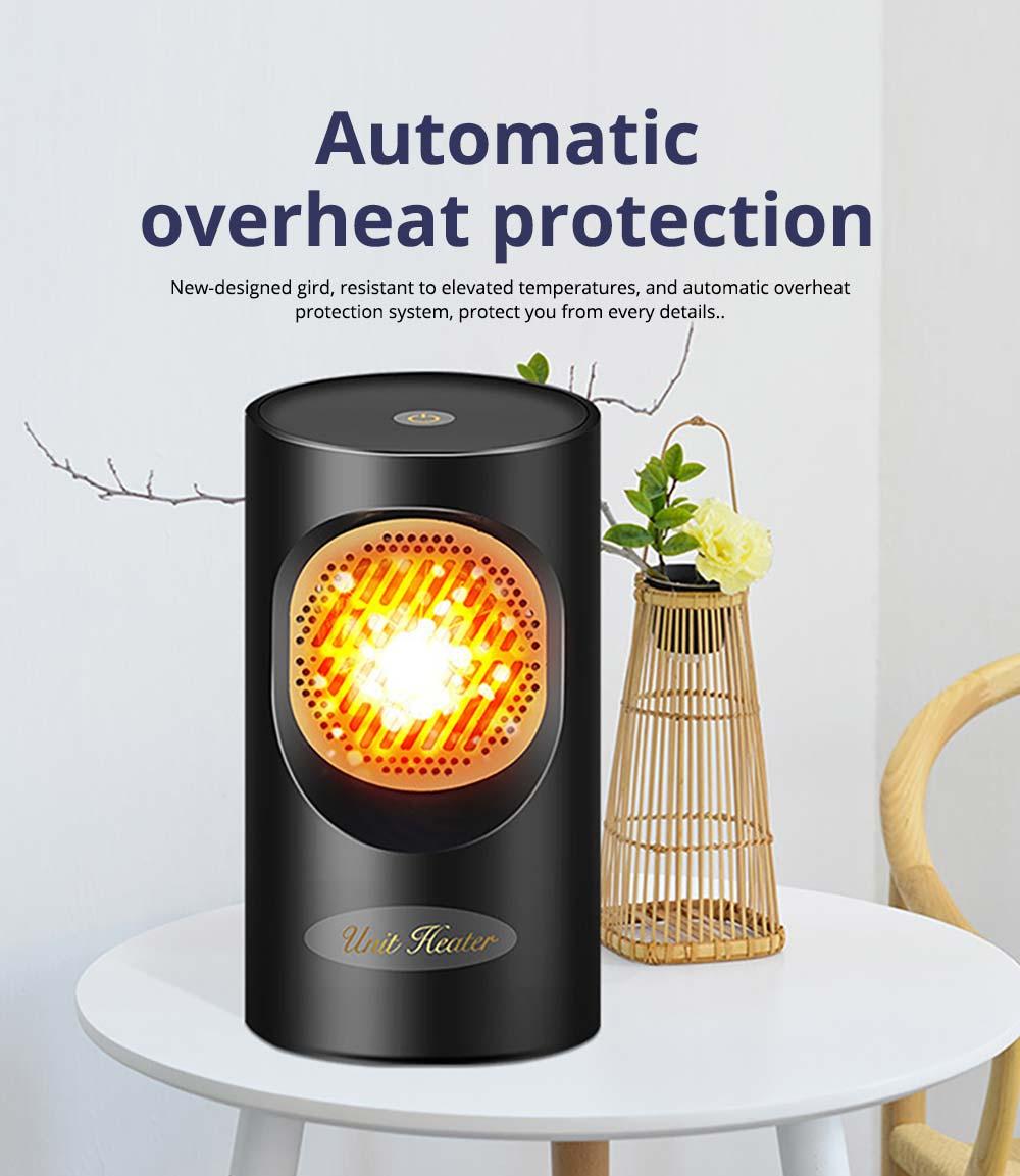 Fan Heater for Office Bedroom, Mini Furnace Portable Electric Space Heater Air Radiator Warmer 300W-400W 8