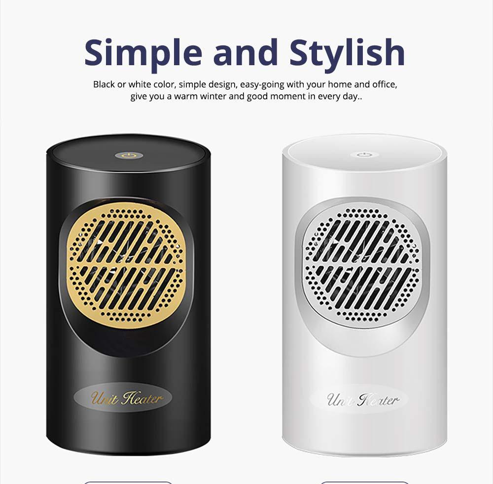 Fan Heater for Office Bedroom, Mini Furnace Portable Electric Space Heater Air Radiator Warmer 300W-400W 10