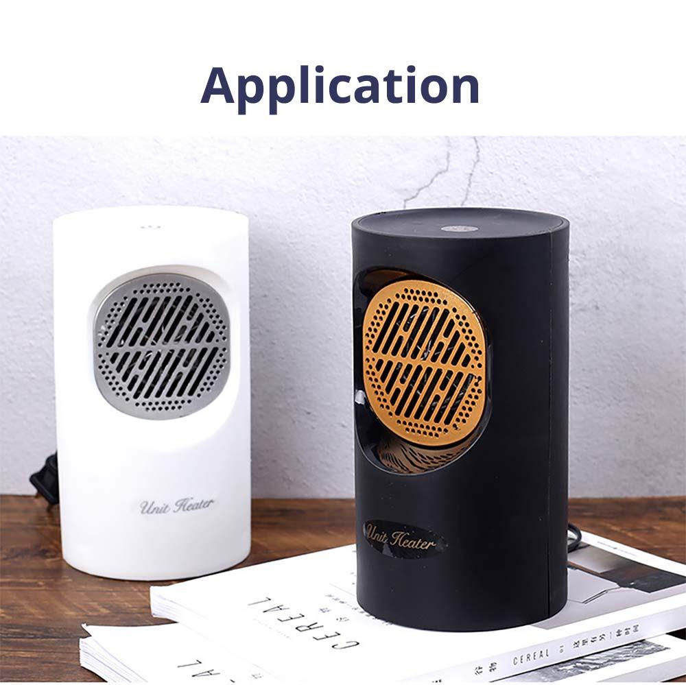 Fan Heater for Office Bedroom, Mini Furnace Portable Electric Space Heater Air Radiator Warmer 300W-400W 13