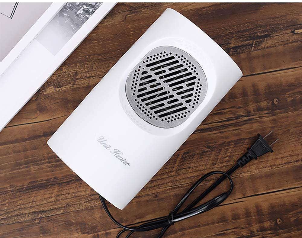Fan Heater for Office Bedroom, Mini Furnace Portable Electric Space Heater Air Radiator Warmer 300W-400W 14