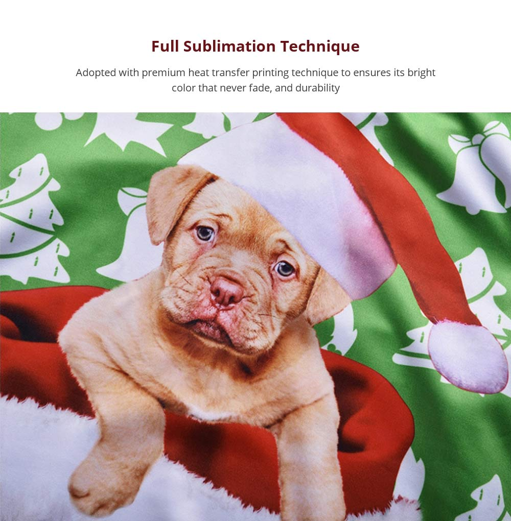 Men's Christmas Hoodies, Sublimation Polyester Funny Pug Christmas Sweater Shirts for Men, Non-fading Warm Dog Hoody 9