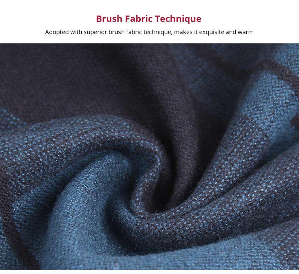 Plaid Men's Scarf, Fashionable Plaid Neckerchief for Business Men, Imitation Cashmere Plaid Scraf  Autumn Winter 2019 9