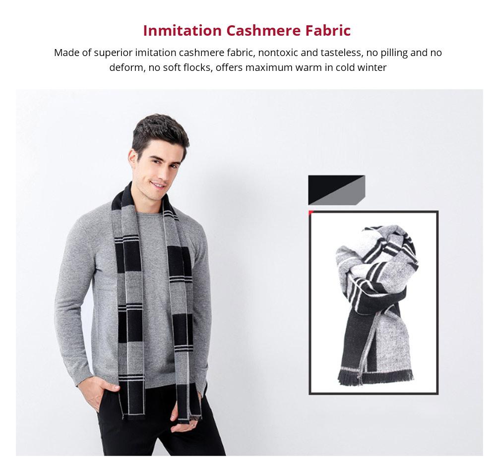 Plaid Men's Scarf, Fashionable Plaid Neckerchief for Business Men, Imitation Cashmere Plaid Scraf  Autumn Winter 2019 12