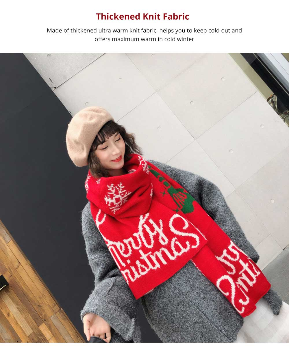 2019 Christmas Scarf for Early Spring, Autumn, Winter, Perfect Christmas Gift Warm Long Christmas Scarf for Children Girls Friends 10