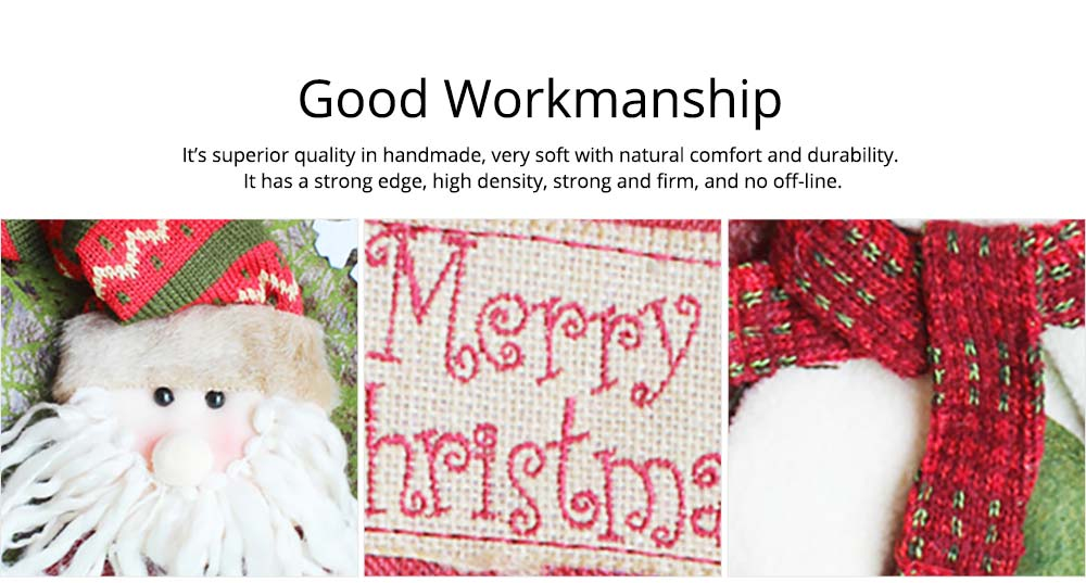 Christmas Stockings - Big Size Hanging Christmas Gift Sock New Arrival Santa Elk Snowman Kids Gift Bag 7