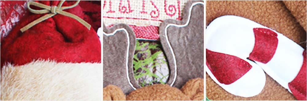 Christmas Stockings - Big Size Hanging Christmas Gift Sock New Arrival Santa Elk Snowman Kids Gift Bag 8