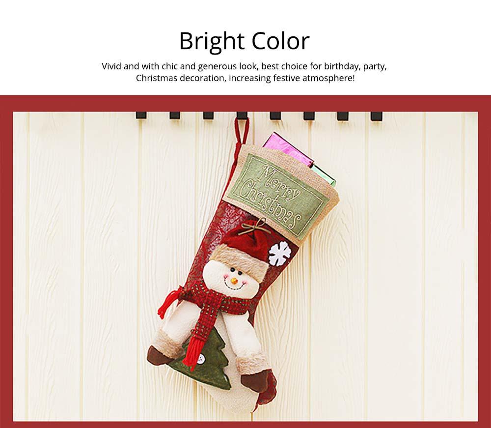Christmas Stockings - Big Size Hanging Christmas Gift Sock New Arrival Santa Elk Snowman Kids Gift Bag 9