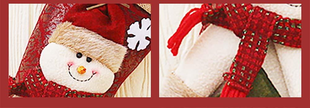 Christmas Stockings - Big Size Hanging Christmas Gift Sock New Arrival Santa Elk Snowman Kids Gift Bag 10