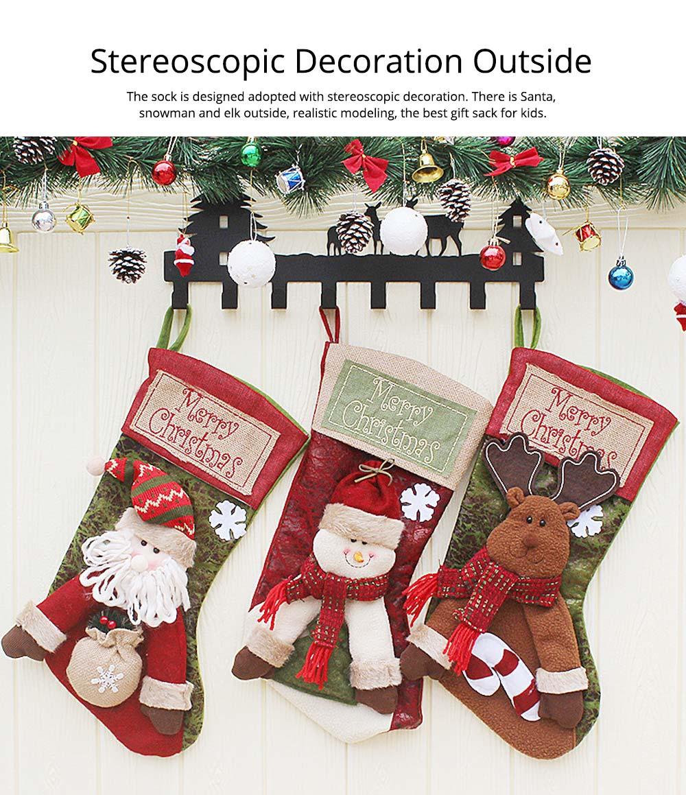 Christmas Stockings - Big Size Hanging Christmas Gift Sock New Arrival Santa Elk Snowman Kids Gift Bag 11