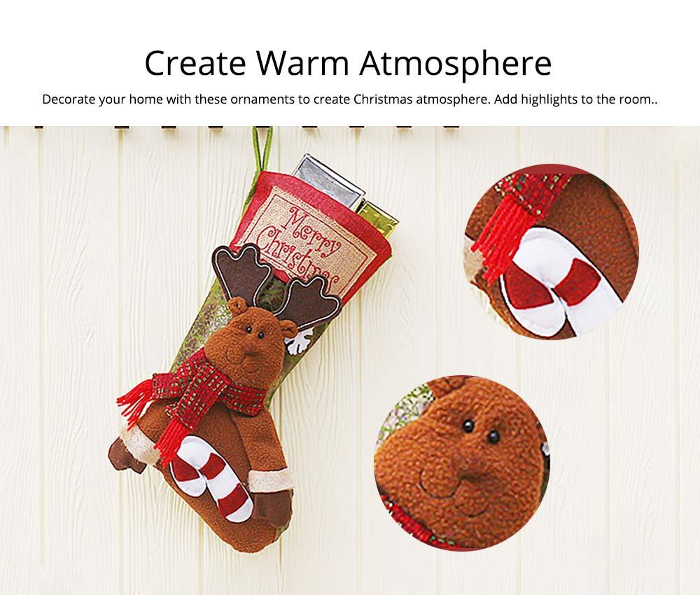 Christmas Stockings - Big Size Hanging Christmas Gift Sock New Arrival Santa Elk Snowman Kids Gift Bag 12