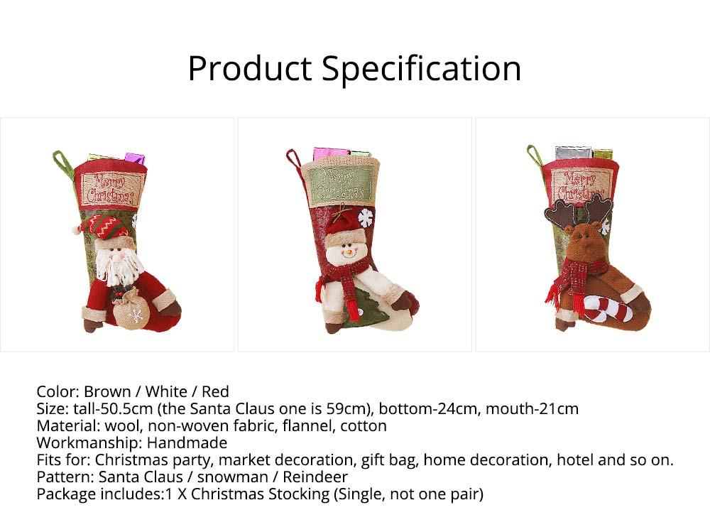 Christmas Stockings - Big Size Hanging Christmas Gift Sock New Arrival Santa Elk Snowman Kids Gift Bag 13