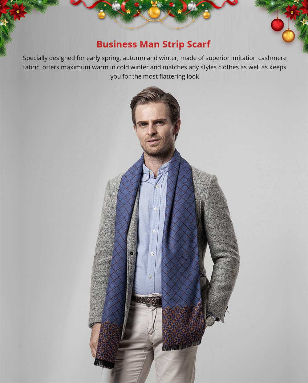 British Style Plaid Scarf for Men, Business Man, Gentleman, Unique Imitation Cashmere Plaid scarf, 2019 Brand New Men's Scarf 7