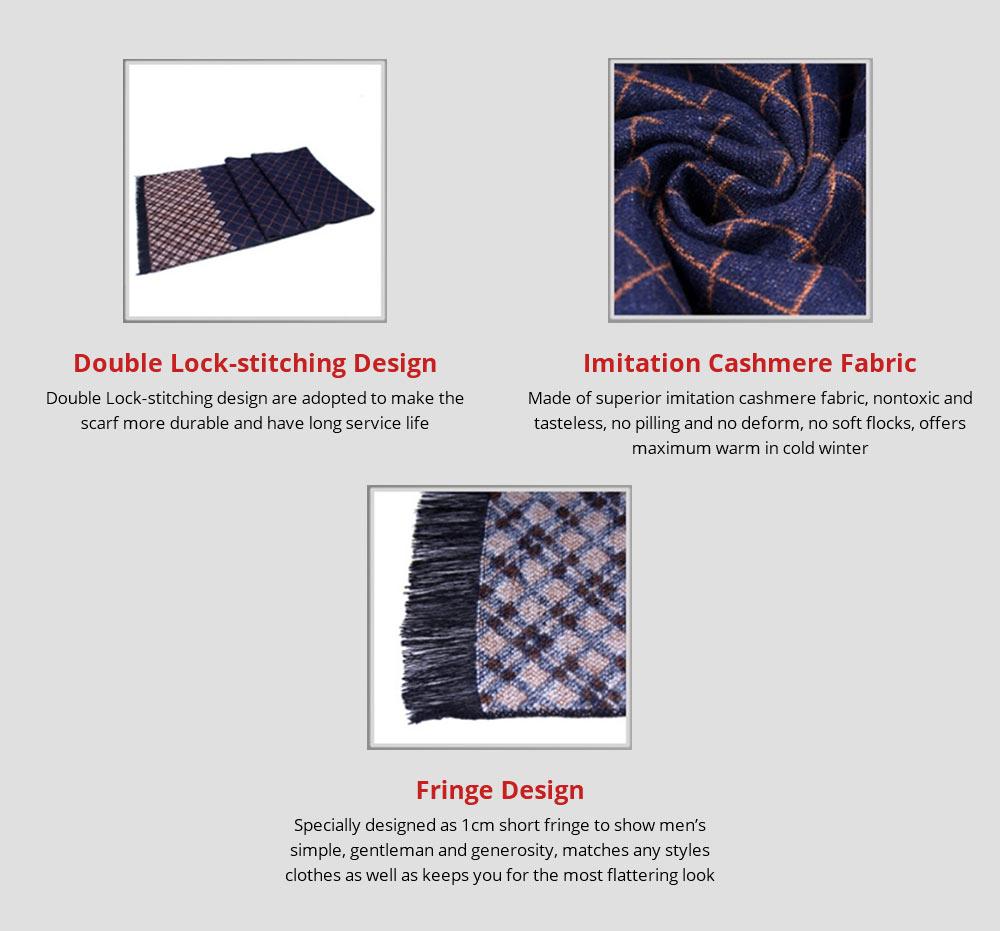 British Style Plaid Scarf for Men, Business Man, Gentleman, Unique Imitation Cashmere Plaid scarf, 2019 Brand New Men's Scarf 8