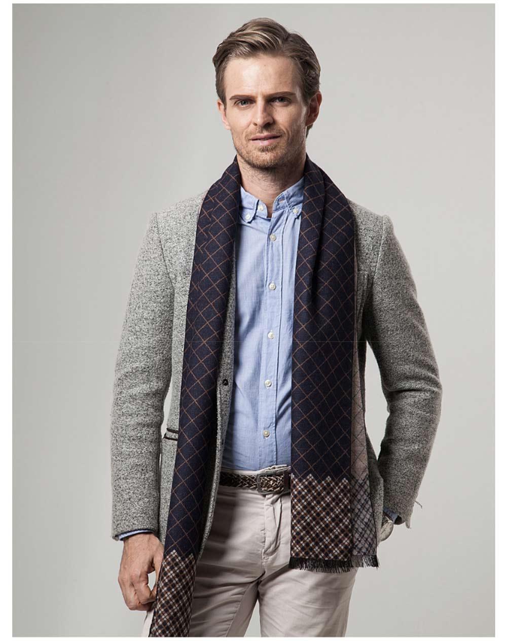 British Style Plaid Scarf for Men, Business Man, Gentleman, Unique Imitation Cashmere Plaid scarf, 2019 Brand New Men's Scarf 11