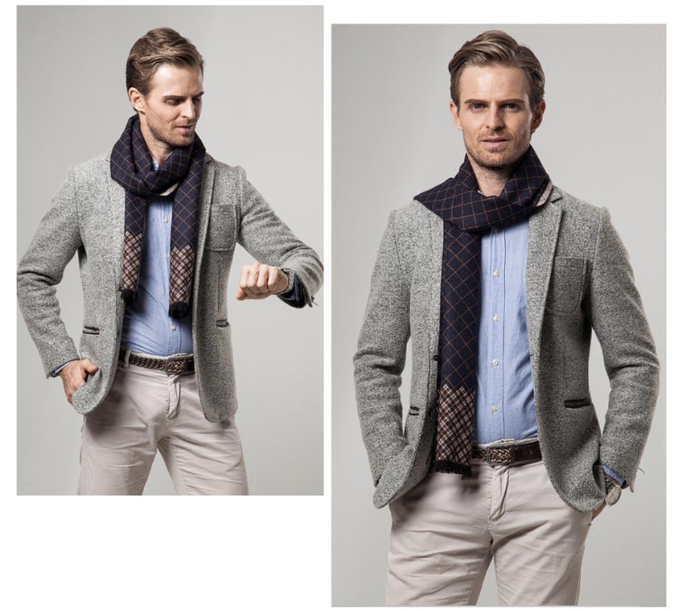 British Style Plaid Scarf for Men, Business Man, Gentleman, Unique Imitation Cashmere Plaid scarf, 2019 Brand New Men's Scarf 12