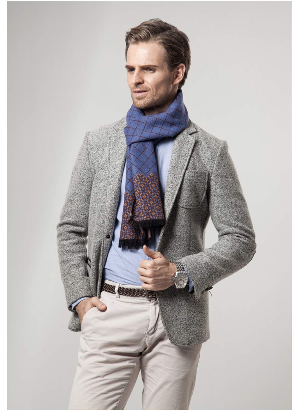 British Style Plaid Scarf for Men, Business Man, Gentleman, Unique Imitation Cashmere Plaid scarf, 2019 Brand New Men's Scarf 13