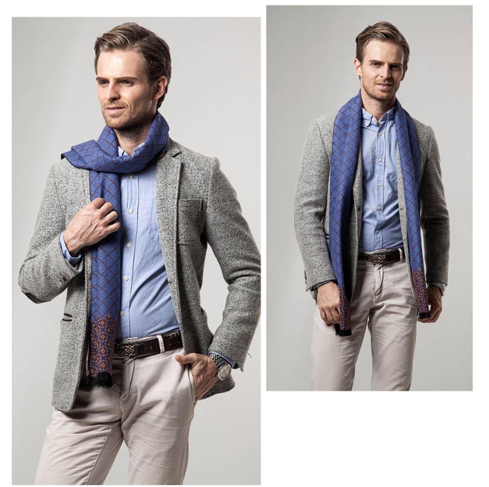 British Style Plaid Scarf for Men, Business Man, Gentleman, Unique Imitation Cashmere Plaid scarf, 2019 Brand New Men's Scarf 14