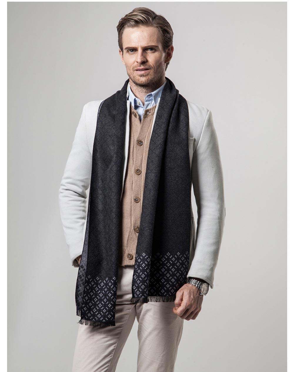 British Style Plaid Scarf for Men, Business Man, Gentleman, Unique Imitation Cashmere Plaid scarf, 2019 Brand New Men's Scarf 16
