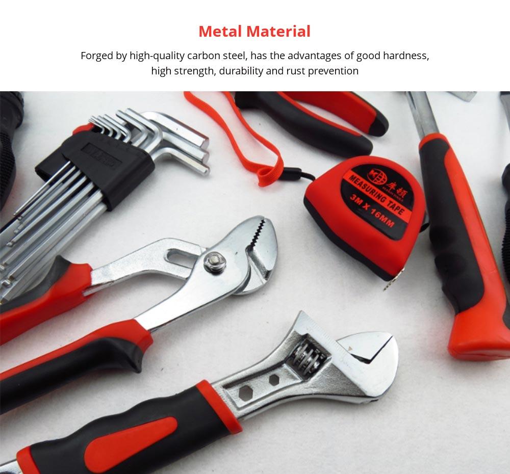 Household Hand Tools Set, Home Repair Tool Set Hand Tool Kit with Plastic Tool Box, Car kits 8