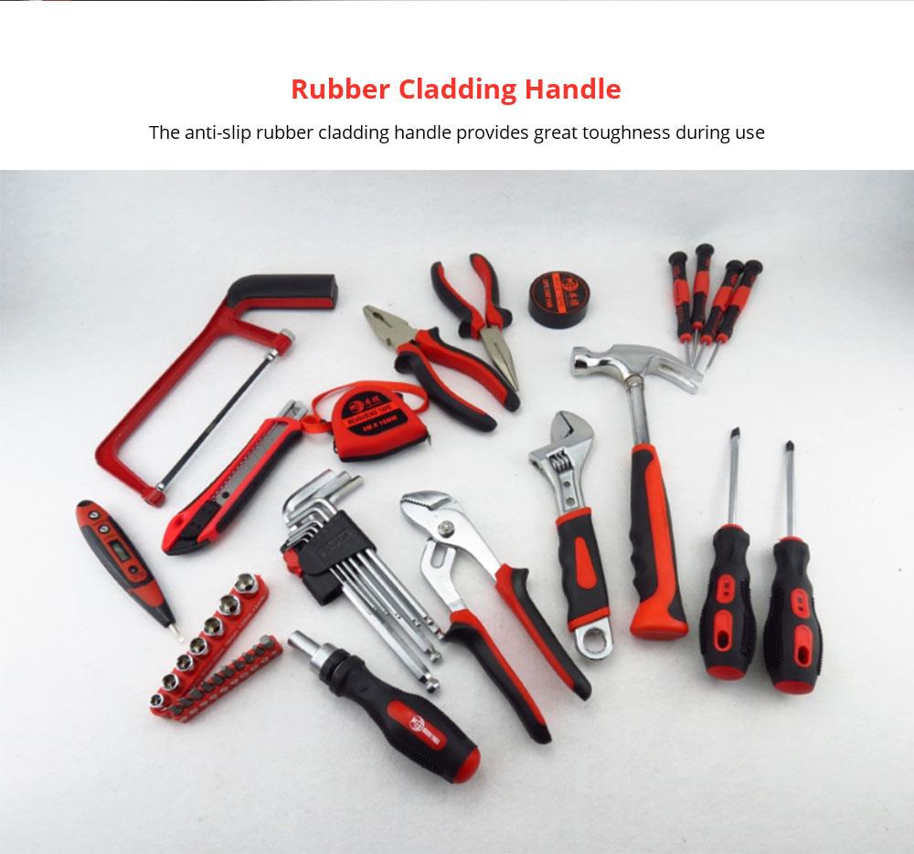 Household Hand Tools Set, Home Repair Tool Set Hand Tool Kit with Plastic Tool Box, Car kits 9