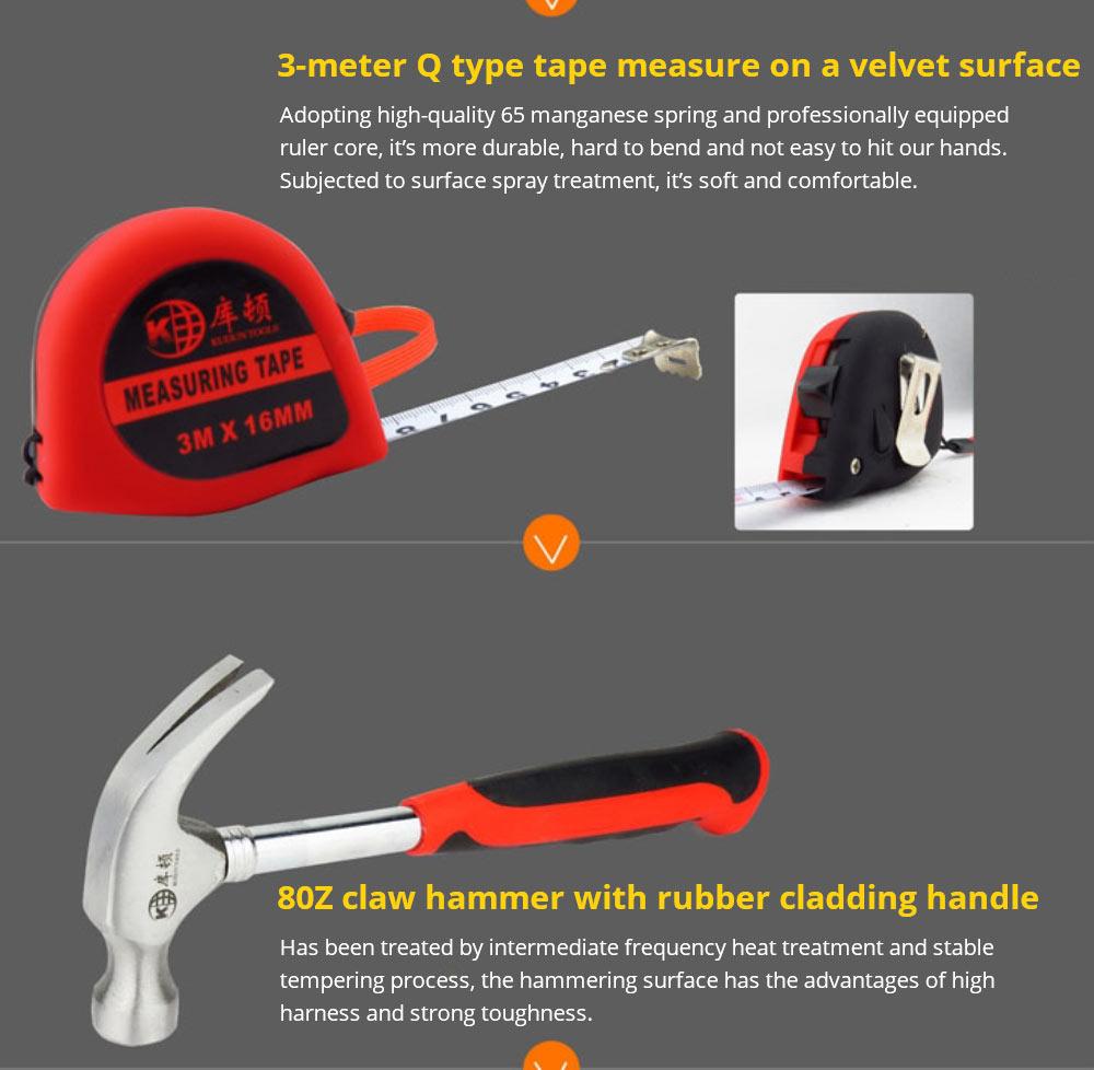 Household Hand Tools Set, Home Repair Tool Set Hand Tool Kit with Plastic Tool Box, Car kits 12