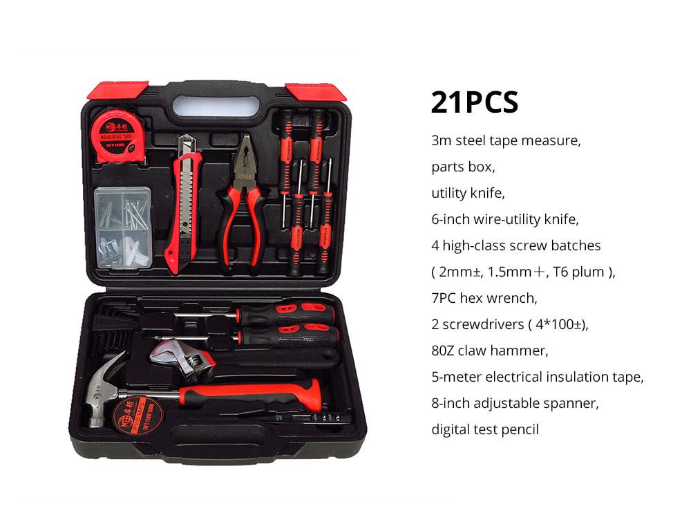 Household Hand Tools Set, Home Repair Tool Set Hand Tool Kit with Plastic Tool Box, Car kits 16