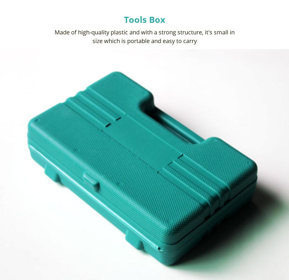 Household Hand Tools Set, 8 PCS Tools Set, Strong Hand Tools, Home Repair Tool Set, Hand Tool Kit with Plastic Tool Box, Car kits 7