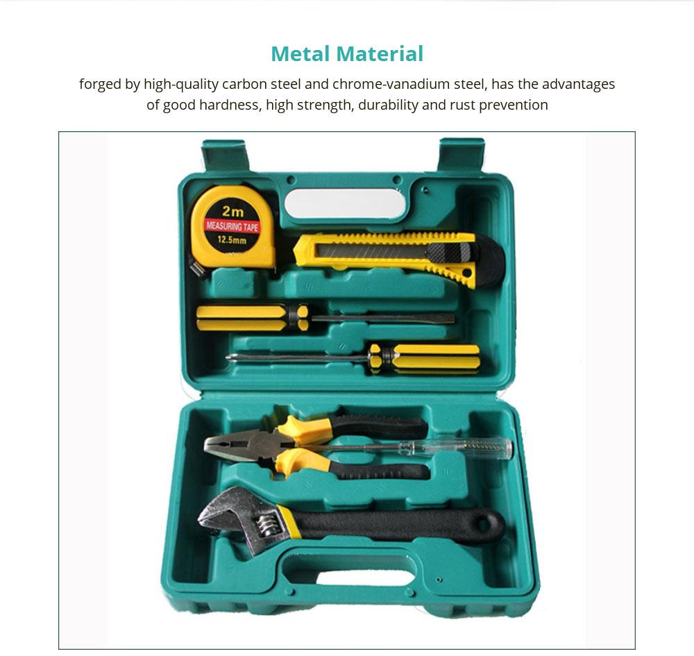 Household Hand Tools Set, 8 PCS Tools Set, Strong Hand Tools, Home Repair Tool Set, Hand Tool Kit with Plastic Tool Box, Car kits 8