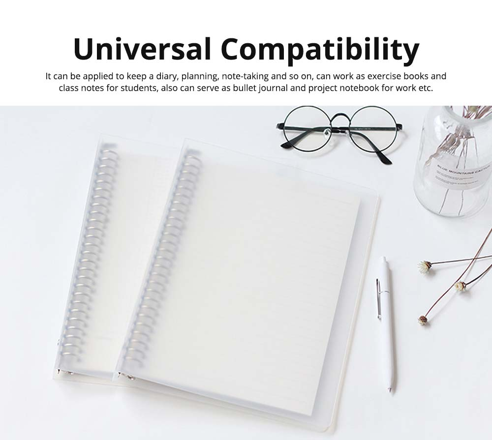 Journals To Write In - Office Supplies Universal Student Detachable Notebook with 100 Replaceable Paper,  2 Pack Personal Journals 12